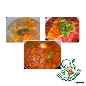 Рецепт: Борщ с жeлтыми помидорами