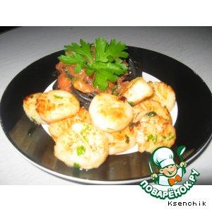 Рецепт: Жареные морские гребешки