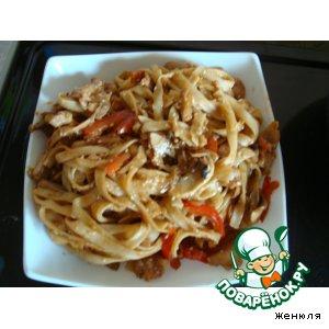 Рецепт: Лапша Удон с курицей