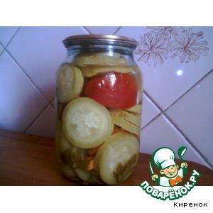 Рецепт: Кабачки маринованные