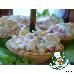 Рецепт: Тарталетки с плавленым сыром и паприкой
