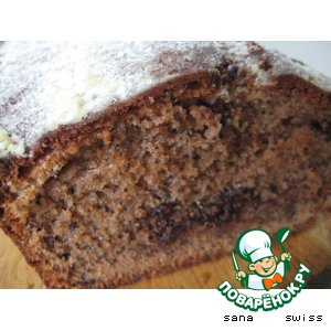 Рецепт: Шоколадный кекс с маком и орехами