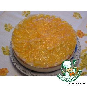 Рецепт: Освежающий персиковый торт