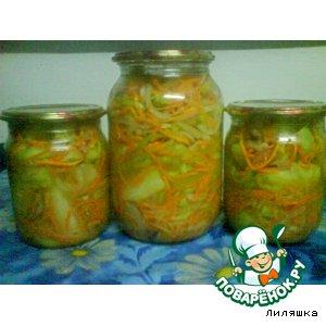 Рецепт: Салат из огурцов и моркови