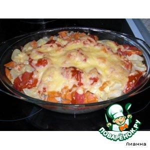 Рецепт: Запеканка с рисом и кабачками