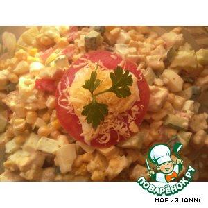 Рецепт: Вкусный салатик
