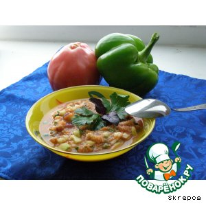Рецепт: Испанский холодный суп Гаспаччо