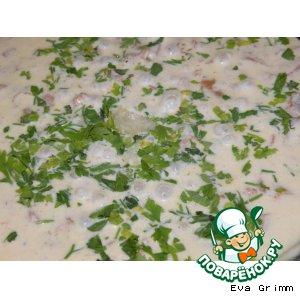Рецепт: Лисички в сливочно-чесночном соусе