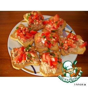 Рецепт: Закусочный бутерброд с тунцом
