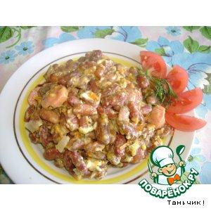 Рецепт: Фасоль под сырным соусом