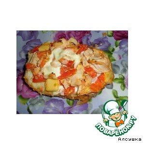 Рецепт: Пицца-бутерброд