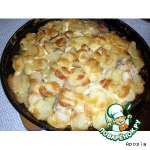 Рецепт: Сом с картошечкой