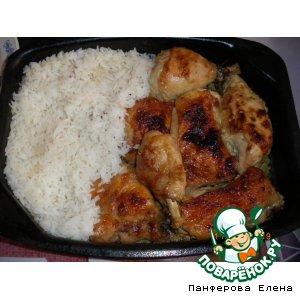 Рецепт: Куриные окорочка с гарниром