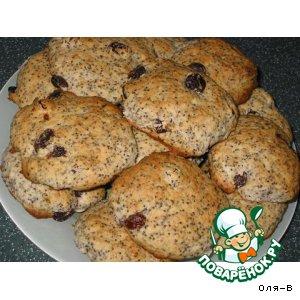 Рецепт: Маковое печенье с изюмом