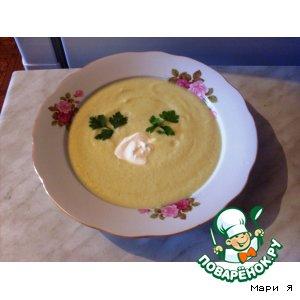Рецепт: Суп-пюре из цуккини