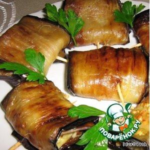 Рецепт: Закуска из баклажанов с сыром