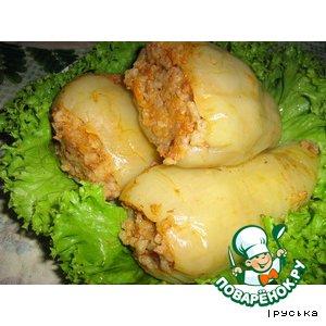 Рецепт: Перец, фаршированный рисом и мясным фаршем