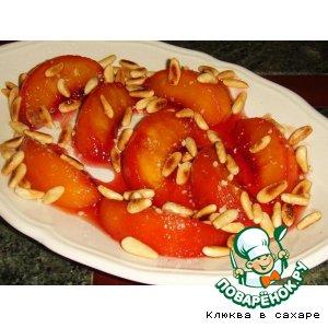 Рецепт: Персики в карамели Жильбер