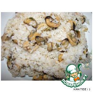 Рецепт: Рис с мидиями