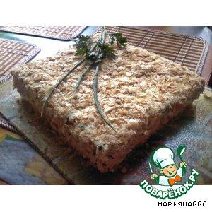 Рецепт: Закусочный торт Хорошее настроение