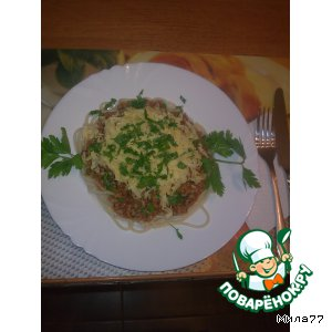 "Рецепт: Спагетти ""Болоньез"""