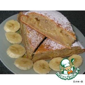 """Рецепт: """"Мокрый"""" банановый пирог с лимонным центром"""