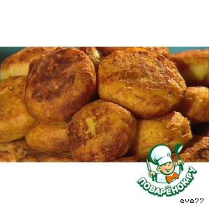 Рецепт: Картофельные котлеты с печeнкой