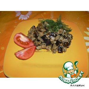 Рецепт: Жареные баклажаны По-грибному
