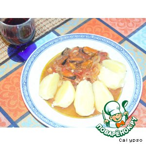 Рецепт: Мидии по-испански-Mexilhoes a Espanhola