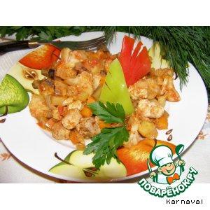 Рецепт: Овощное рагу с телятиной