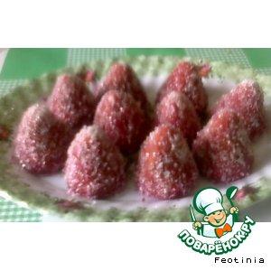 Рецепт: Печенье-трюфельки Ягодки
