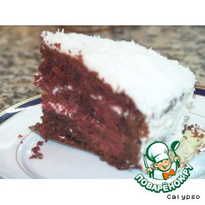 Рецепт: Торт Красный бархат