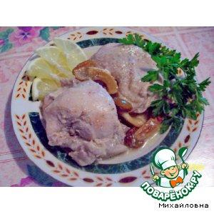 Рецепт: Тушeный цыплeнок в сметане
