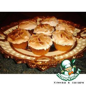 "Рецепт: Малиново-ореховые корзиночки ""Гарфилд"""