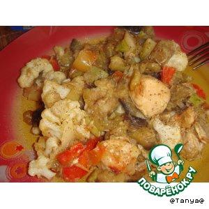 Рецепт: Овощное рагу с курицей