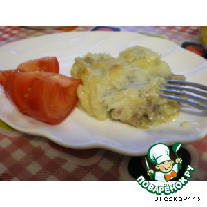 Рецепт: Картофельно-мясная запеканка Дачная