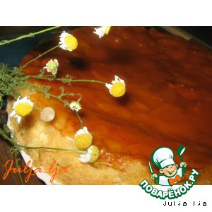 Рецепт: Бисквитный пирог с абрикосами
