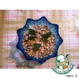 Рецепт: Салат из курицы и чернослива