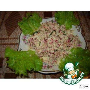 Рецепт: Салат из редиски с мясом