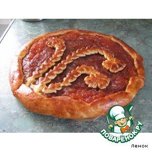Рецепт: Пирог с яблочным джемом