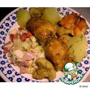 Рецепт: Филе масляной рыбы в кокосовом соусе