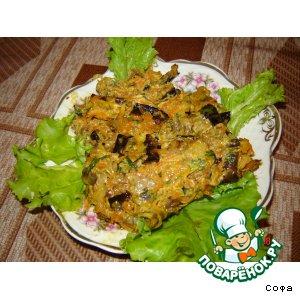Рецепт: Баклажаны с грибами