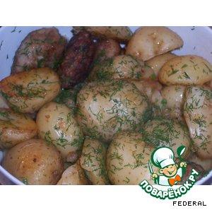 """Рецепт: Молодой картофель """"Нежный"""""""