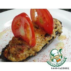 Рецепт: Баклажаны, фаршированные сыром Алые паруса