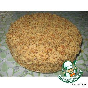 Рецепт: Торт с халвой и кунжутом