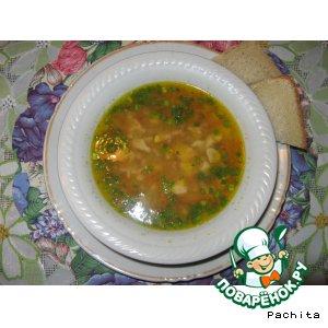 Рецепт: Чечевичный суп с копчeной индейкой