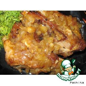 Рецепт Свиные рeбра в медово-абрикосовом соусе