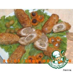 Рецепт: Рулетики с куриной печенью