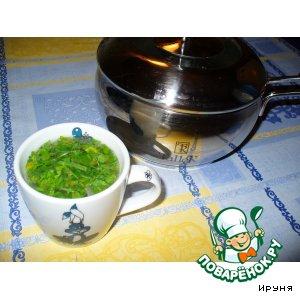 Рецепт: Куриный бульон с зеленью
