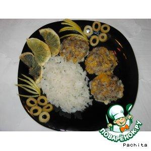 Рецепт Кальмаро-грибные биточки с сыром